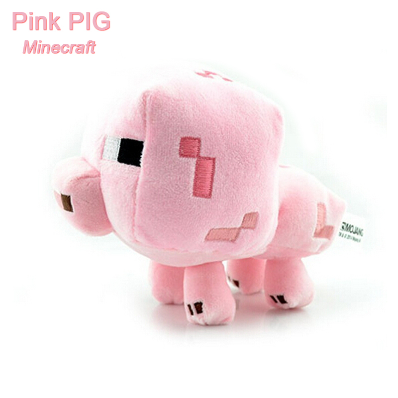 US $3 2  Minecraft lovely Plush MC Toys high quality Stuffed Plush Dolls  Minecraft pink PIG Animal Cartoon Game toys gift-in Movies & TV from Toys &