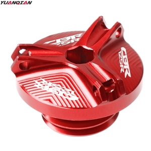 Image 2 - M20*2.5 Motorcycle CNC Engine Oil Filler Cup Cap Reservoir Cup Plug Cover For Honda CBR125R CBR 125R CBR 125R 2011 2018