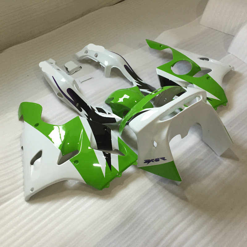 Custom Fairing Kit for KAWASAKI Ninja ZX6R 94 95 96 97 ZX 6R 1994 1996 1996 1997 Green white Motorcycle Fairings set+7gifts KZ06