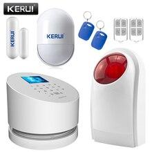 Nuevo kerui gran w2 wifi gsm seguridad en el hogar sistemas de alarma con pantalla LCD TFT en Color de menú de interfaz de USUARIO IP Cámara Flash Inalámbrico Sirena