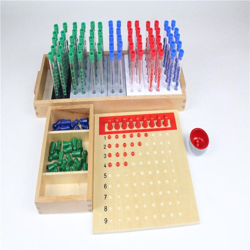 Montessori enfants jouet bébé bois Tubes longue Division groupe apprentissage éducatif préscolaire formation Brinquedos Juguets - 2