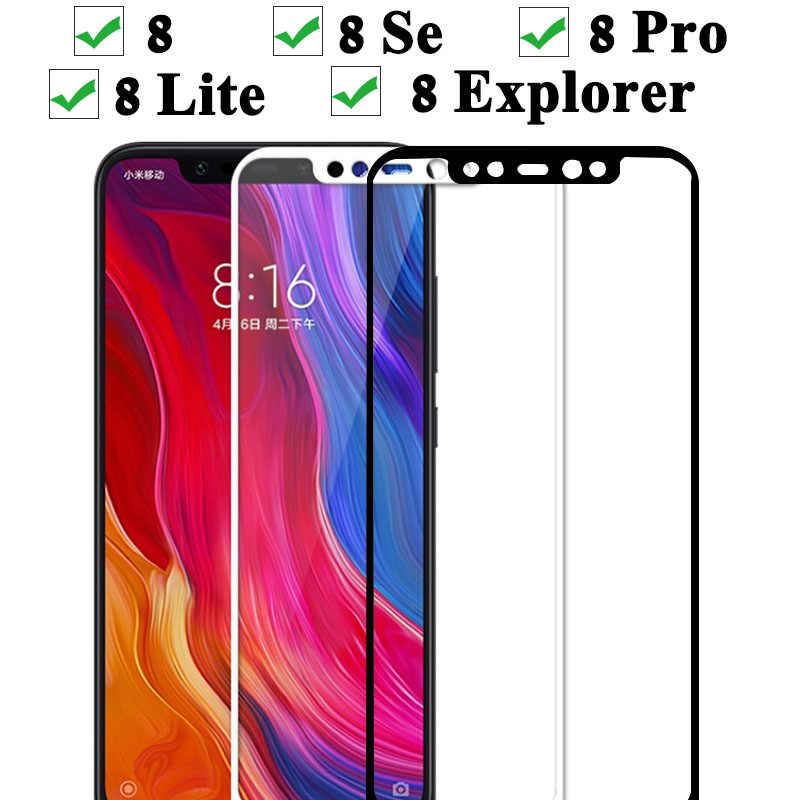 Verre de protection pour Xiao mi 8 Se Pro Lite Explorer étui en verre trempé sur Ksio mi Xio mi Xia mi 8 Lite protecteur d'écran lumière