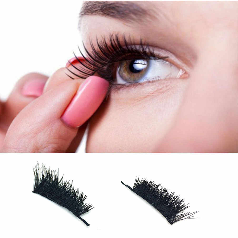 d6f703742ce ... Best Deal 1Pair Classic 3D Magnetic False Eyelashes Extension Tools  Natural Makeup High Quality OutTop Drop