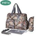 5 PCS/SET Baby Nappy Bags Diaper Bag Mother Shoulder Bag Fashion Maternity Mummy Handbag Waterproof Baby Stroller Bag NEW