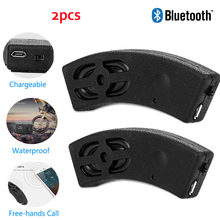 2PCS Del Motociclo di Bluetooth Speaker Della Bicicletta Moto Casco Wireless Outdoor Equitazione Impermeabile Stereo Boombox Mini Subwoofer(China)