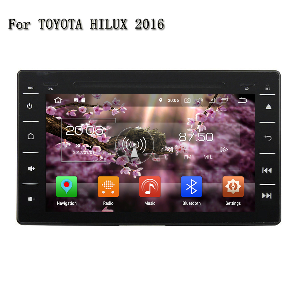 8 RAM 4G 2 Din Android 8.0 Car DVD Player Multimedia System For Toyota HILUX 2016 With GPS Radio Stereo Sound Touch Screen