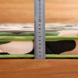 Image 3 - 6 cm épaisseur flanelle velours camouflage matelas tatami hôtel tatami tapis matelas literie Textile à la maison