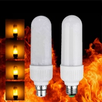New Year Decor 2835 SMD LED Lamp Bulb E27 B22 5W Flame Fire Flickering Effect LED