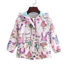 2016 Новый 2-9 Т весной и летом девушки куртки случайные капюшоном верхняя одежда для девочек мода Ручная Роспись дети солнцезащитный крем одежда для девочек