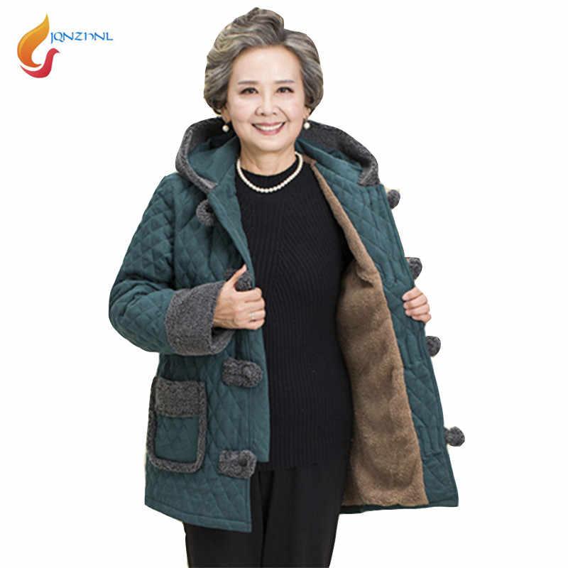6235c45929bf Бабушка хлопковые пальто плюс Размеры 5XL зимние Утепленные Теплая ...
