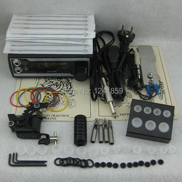 Complete Tattoo Kit Set Tattoo Gun Power Supply Needle Grip Tip Combo Kit Set Supply TKS104# complete tattoo kit set tattoo gun power supply needle grip tip combo kit set supply tks110