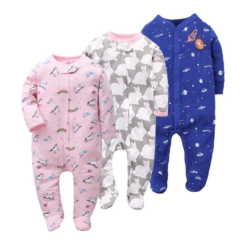 43d4aaa67 Orangemom marca verano primavera bebé mameluco de manga larga 100% algodón  pijamas de bebé dibujos animados impresos bebé recién nacido niñas ropa de  niños