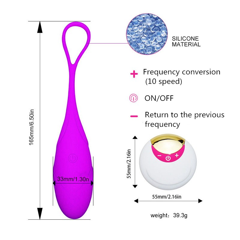10 Speed Wireless Remote Control Vibrator USB Rechargeable Bullet Egg Vibrator Vaginal Massage Kegel Balls Sex Toys for Woman