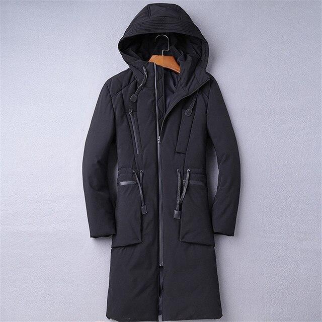 De gama alta de La Venta Caliente Largo Invierno de Los Hombres Outwear Ropa Casual Chaqueta Y Capucha extendida chaqueta abajo Parkas chaqueta Masculina escudo M-4XL
