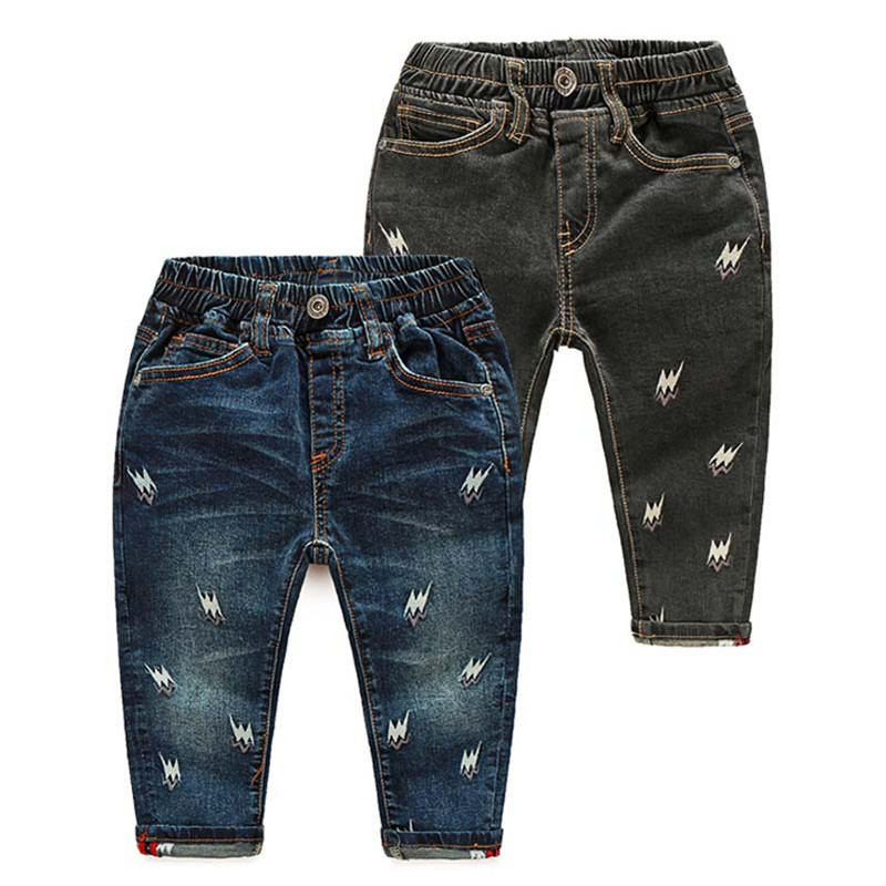 High Quality 24M-6T Baby Boys Jeans Cartoon Embroidered Kids Cowboy Pants Spring Autumn Children\'s Fashion Trousers CMB694 (5)