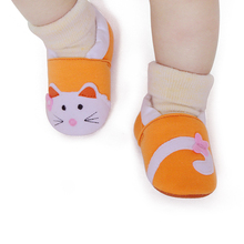 Cute Fashion Cat Shallow Cotton Animal Prints Baby Shoes For 0-2 Years Old Soft Sole Comfortable Factory Price Wholesale