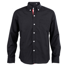 2017 NEW Black Autumn Stylish Shirts for Men Solid Color Ribbon Long Sleeve Slim Fit Casual Shirts