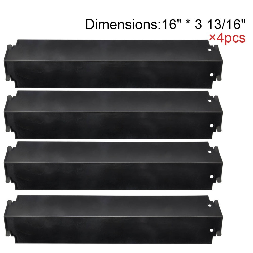BBQ Parts 93321(4-pack) Porcelain Steel Heat Shield Replacement for Charbroil 463260707 Gas Grill Replacement Heat Plates