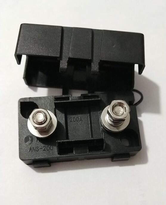 black 20A <font><b>30A</b></font> 40A 50A 80A 100A 150A 200A forked type <font><b>fuse</b></font> and Auto <font><b>fuse</b></font> <font><b>holder</b></font> <font><b>Fuse</b></font> <font><b>Holder</b></font> Box for Car Boat Truck with Cover image