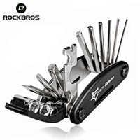 ROCKBROS 16 en 1 Kit d'outils de réparation de vélo multifonction outil de tournevis vélo à rayons hexagonaux vtt outil de réparation de vélo de montagne