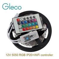 DC12V 5050 RGB LED Strip Set 60LED M 5M Lot LED Strip 5050 RGB Mini 24Key
