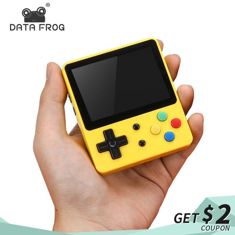 DATA FROG 2.6 pouces Mini Console de jeu Portable LDK rétro jeu vidéo famille TV classique Portable Gamepad Support AV sortie