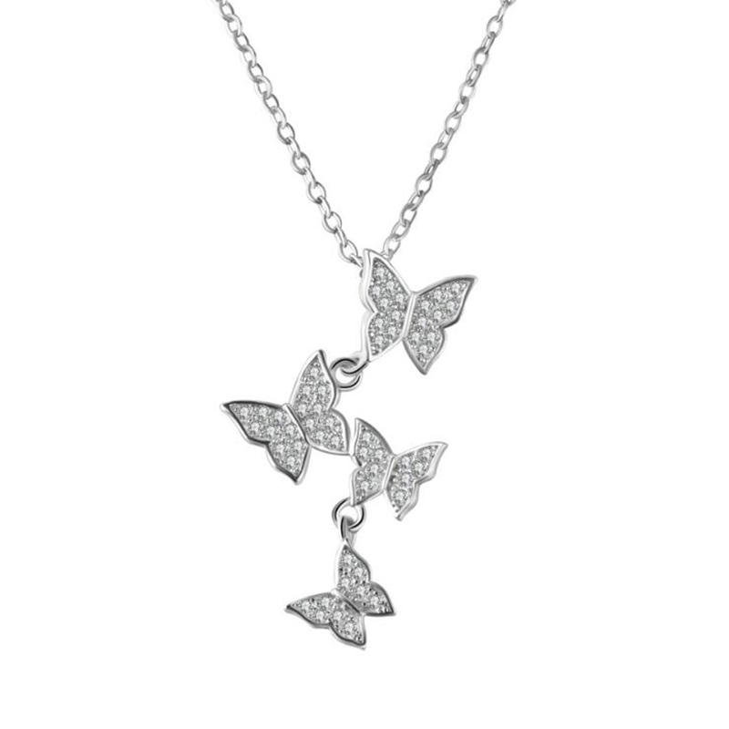 XIYANIKE New Products 925 Sterling Silver Butterfly Simple Trendy Fashion For Girl Birthday Gift Creativity Promotions VNS8404