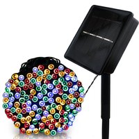 F5 100 200 LED Outdoor Solar Lamps LED String Lights Fairy Holiday Christmas Party Garlands Solar