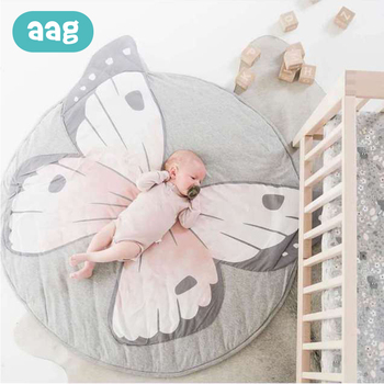 AAG Baby Crawling Play Mat Baby Game Pad Kid Round Crawling Carpet Infant Floor Rug Play Mat Children Play Blanket Room Decor 35