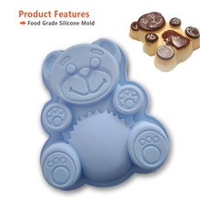 Bear shape cake silicon mould