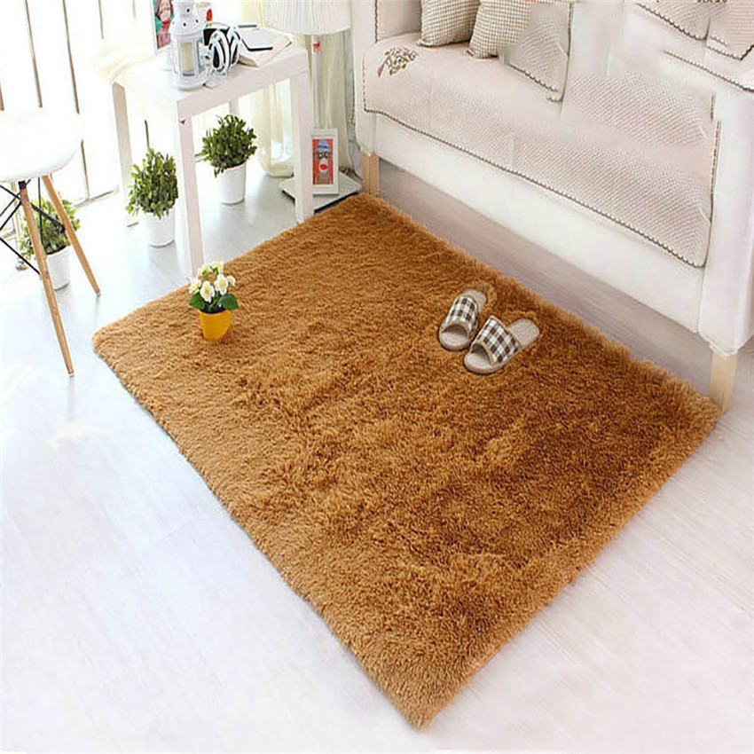 Cotton Carpet Living Room Dining Bedroom Area Rugs Anti: Soft Fluffy Rugs Anti Skid Shaggy Area Rug Dining Room