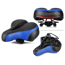 2018 Soft Bicycle Saddle Seat Thicken Wide Bicycles Saddles Pad + Rear Cycling MTB Mountain Road Bike Bicycle Accessories