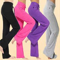 Molla di Modo di Autunno Sexy Delle Donne Pantaloni di Colore Solido Coulisse a Vita Alta Danza di Fitness Della Signora Casual Pantaloni di Yoga M-4XL FH99