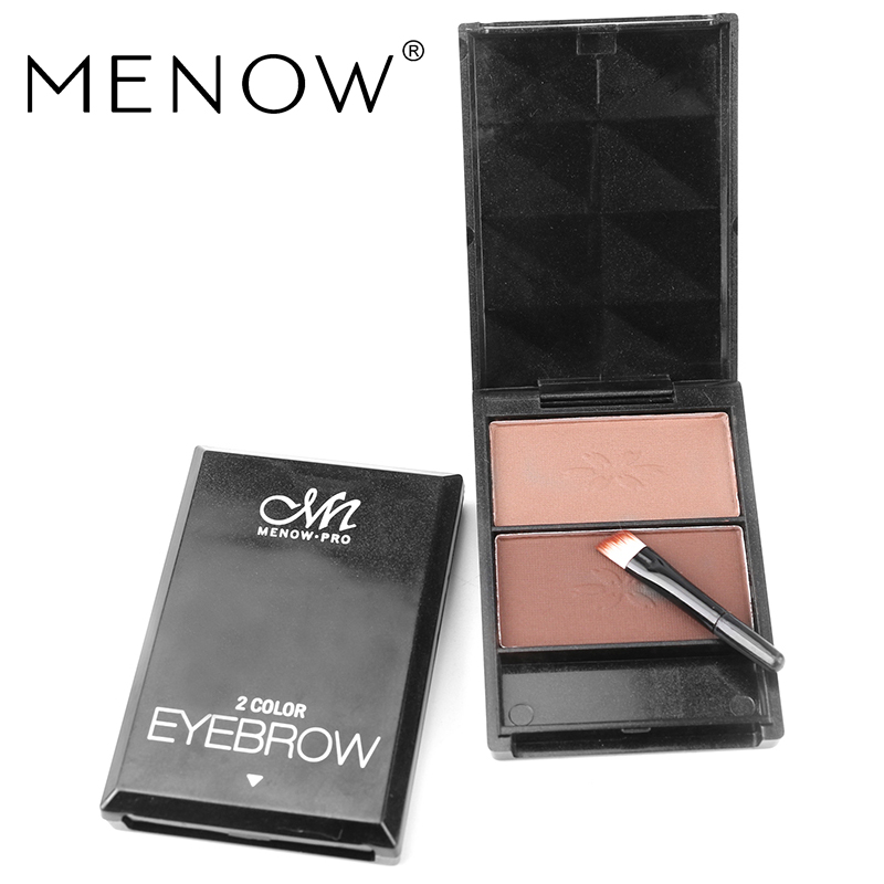 MENOW Brand Beauty Make-up Color Eyebrow Boxed Natural Three-dimensional Water Does Not Bloom Face Shadow Cosmetics E16002