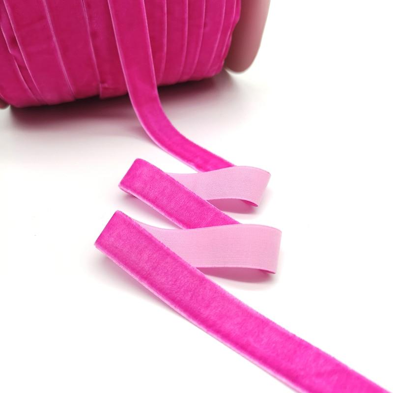 5 ярдов 6-25 мм бархатная лента для украшения свадебной вечеринки ручная работа лента для упаковки подарков бантик для волос DIY Рождественская лента - Цвет: Light Rose