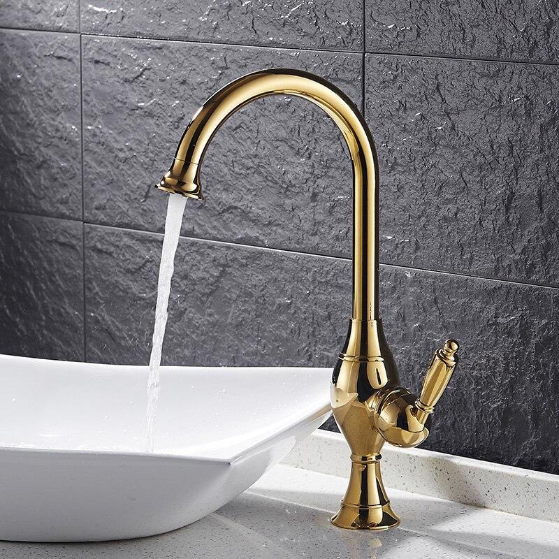 New Bathroom Basin Faucet Chrome Polished Brass Swivel Single Handle Kitchen Faucet Bathroom Basin Mixer Tap