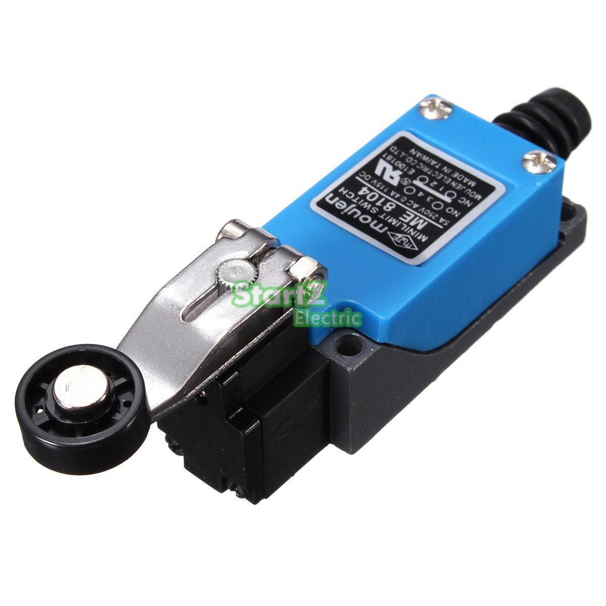 ME-8104 Rotary Plastic Roller Arm Enclosed Limit Switch Finish Maching professional electrical switches dustproof rotary roller lever limit switch overtravel limit for cnc mill laser plasma me 8108
