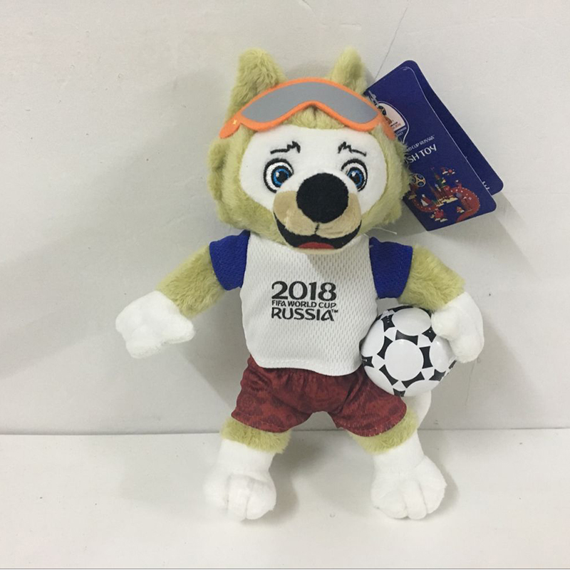 25cm Cute Cartoon Animal Wolf Plush Toys New Russia Mascot Soft Plush Collection Toy Doll Football Toy Gift Souvenirs Gift cute soft simulation toucan bird toy plush blacktoucan toy gift about 25cm