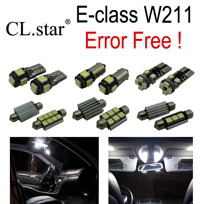 29pcs LED Parking city Bulb Interior Light Kit For Mercedes For Mercedes-Benz E class W211 E320 E350 E430 E500 E550 E63 AMG 2 x t10 led w5w canbus car side parking light bulbs with projector lens for mercedes benz c250 c300 e350 e550 ml550 r320 r350
