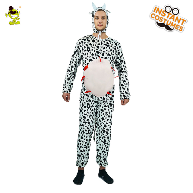 2017Adult Men's Cow Pajamas Animal Costume Mascot Animal Costumes Funny Fancy Dress Autumn&Winter Pajamas For Adults