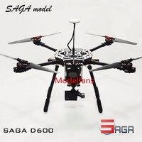Сага D600 4 осевой Квадрокоптер рама подходит для Gopro Камера с Pixhack игровые Джойстики + AT9 пульт дистанционного управления для видом от первого