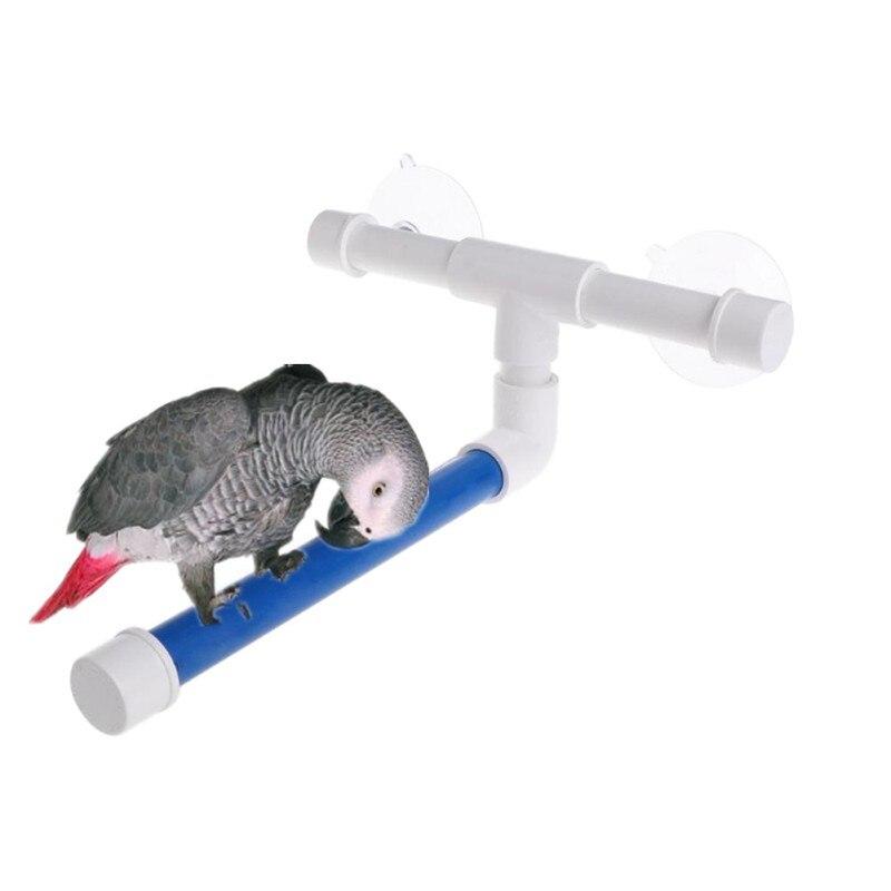 Parrot Shower Rack Stand Station Stick Parrot Bath Supplies Pet Parrot Toy Cross Folding Bath Shower Standing Platform Bird Toys