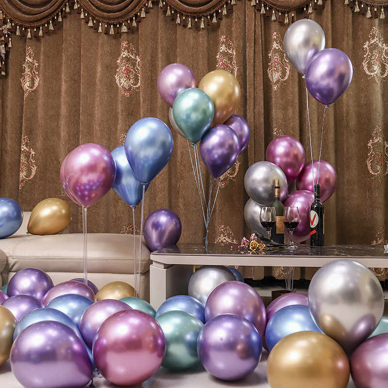 10pcs Shiny Metallic CHROME Balloons Dusty Rose Gold Balloons Unicorn Birthday Mermaid Wedding Party DIY Balloon Garland