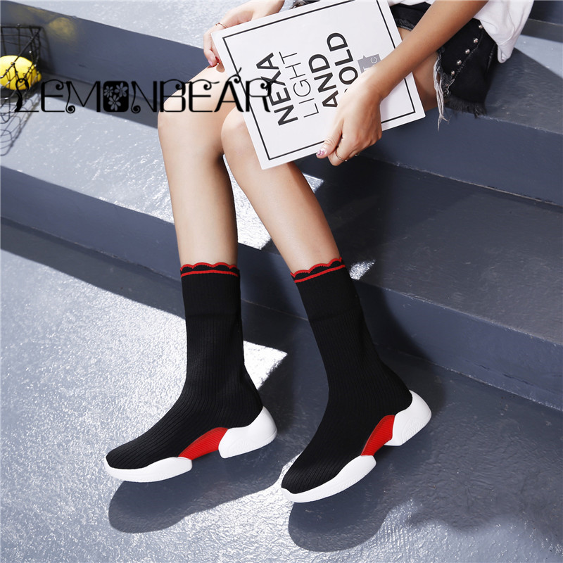 Sneakers Black Comfortcuffs Non black Dames Plate slip Red Automne Haute Yellow And forme Respirant Chaussures Plate Plat Noir Femmes Femelle Casual wxz1OzaP