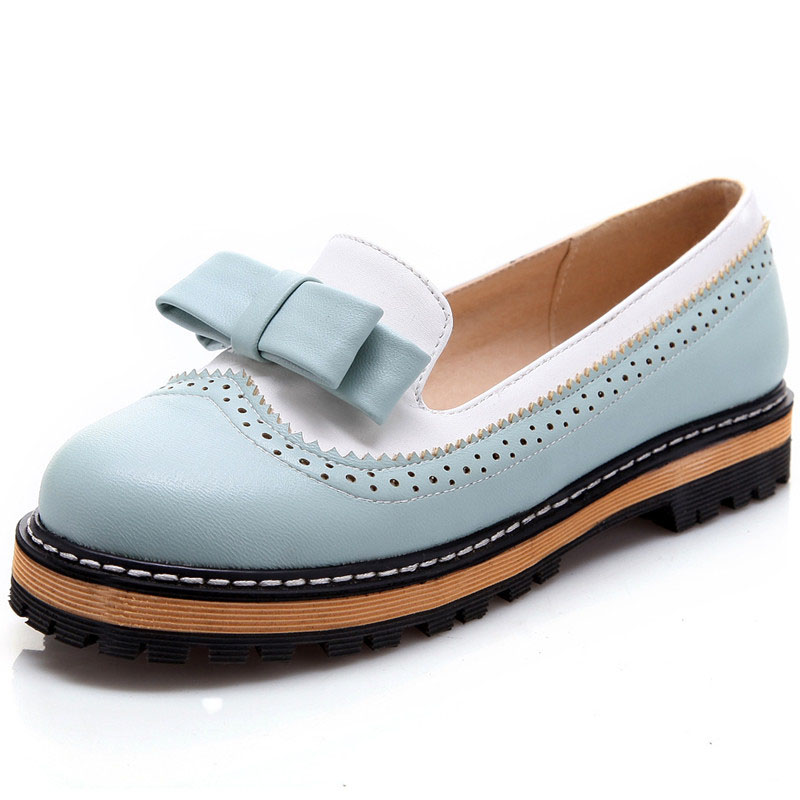 60ac101d05d 2016 MAX 43 Platform Flat Shoes Woman Silp On Summer Loafers Casual Women  Flats Bowtie Ladies Party Wedding Shoes Tenis Feminino