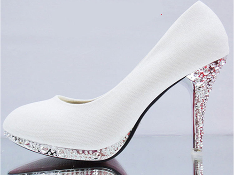 Crystal Women Shoes Pink Wedding Shoes Woman Bridal Red Bottom High Heels Shoes Sexy Women Pumps Glitter Gorgeous Bridal Shoes in Women 39 s Pumps from Shoes