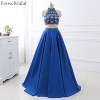 Prom dresses a line evening party gowns erosebridal sparkly beading two pieces prom dress sexy backless.jpg 200x200