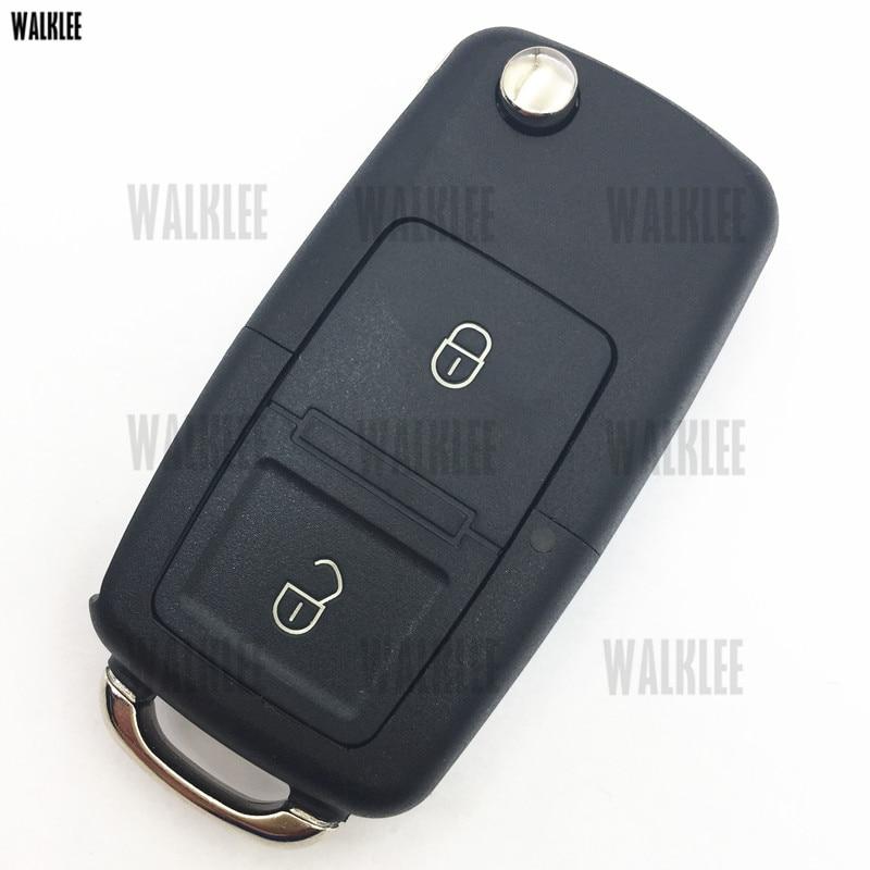 WALKLEE 1J0959753A Upgrade Remote Car Key Fit for VW/VOLKSWAGEN Lupo Bora Passat Polo Golf Beetle 1J0 959 753 A 1JO HLO