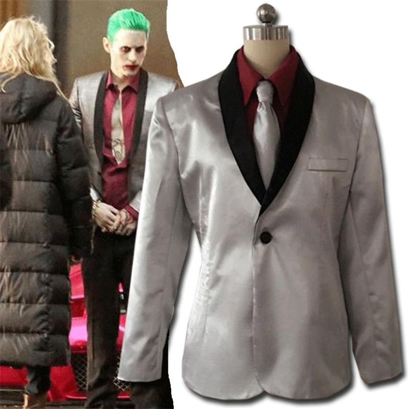 Joker Movie Suicide Squad Jared Leto Clown Cosplay Costume Anime Suit Christmas Party Halloween Costume For Men High quality