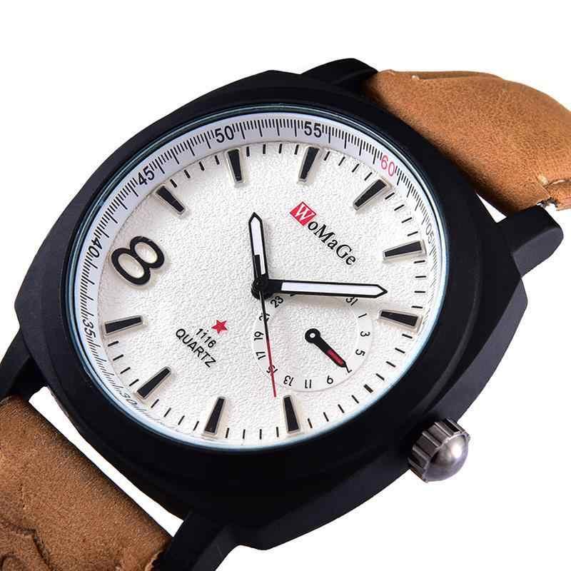 2016 新ビジネスファッションカジュアルウォッチメンズラグ WoMaGe クォーツ時計屋外クライミングスポーツ軍事腕時計